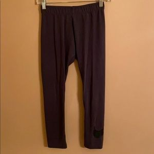 Nike Cotton Blend Grey Capri Exercise Pants